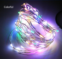 Quality flexible copper wire IP65 DC12V plug 100leds 10m colorful led string fesvtival decoration fairy string 9 color options