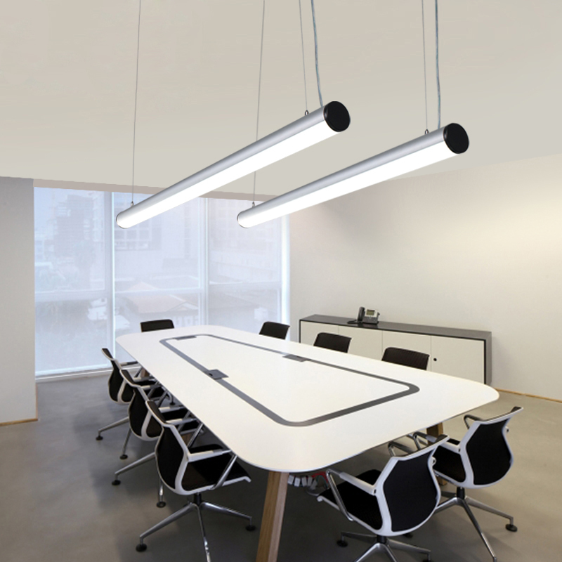 ZX Modern LED Acryl Office Pendant Lamp Simple Dining Room Light Conference Room Chandelier Living Room Study Room Lamp LED Chip zx modern aluminum led chip pendant lamp engineering hanging wire strip light fixture for office conference room study lamp