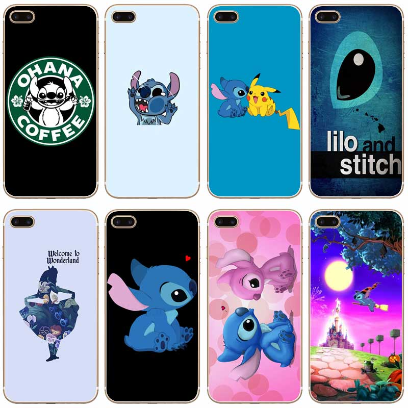 stitch phone case iphone 5s h512 lilo and stitch transparent thin cover for 7987