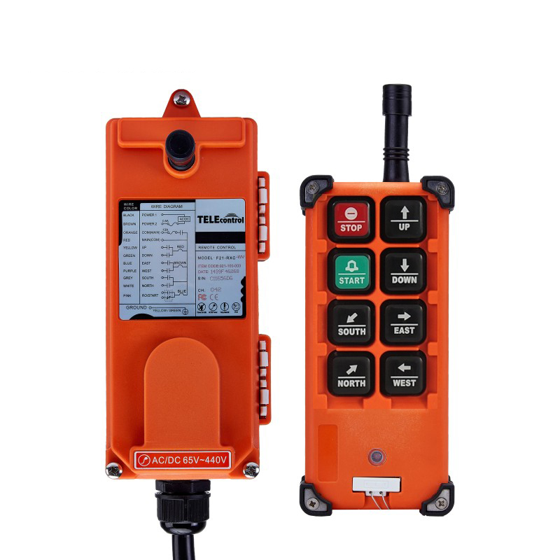 Uting Waterproof Wireless Industrial Radio Remote Control Distance AC/ DC 110V 220V 380V 6* Buttons for Construction Crane Lift nice uting ce fcc industrial wireless radio double speed f21 4d remote control 1 transmitter 1 receiver for crane
