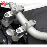 Flash Deals CNC Motorcycle Handlebar Riser Heightening Device For BENELLI TRK502 TRK 502 Accessories Fast Shipping Silver color