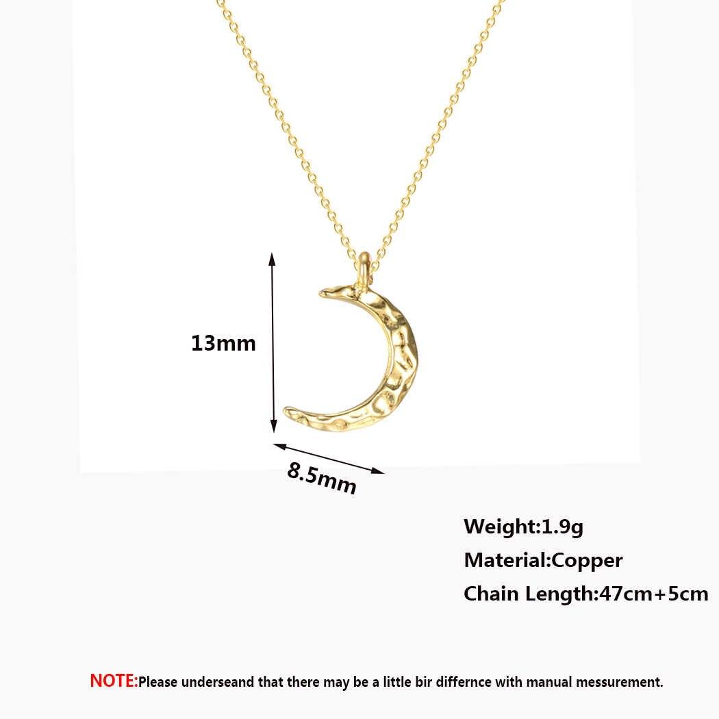 Kinitial Crescent Moon Colar Pequeno Chifre de Ouro Meia Lua Pingentes Colares de Jóias de Aniversário Delicado Presente de Casamento Da Dama de Honra