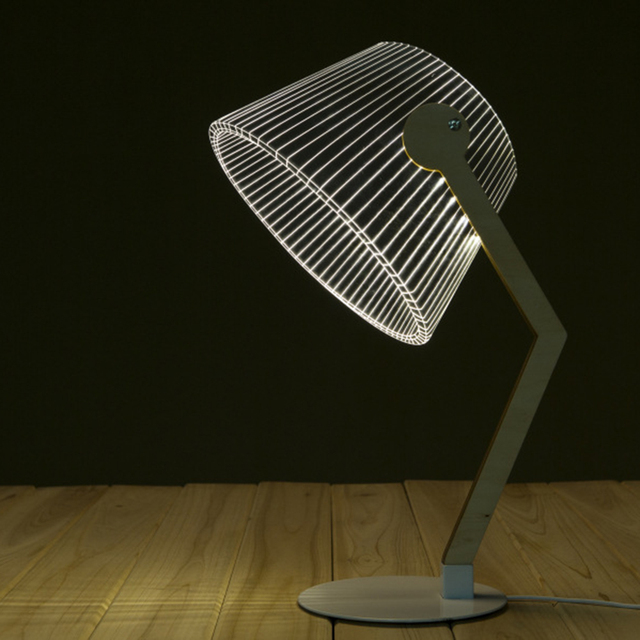 Мода 3D Настольная Лампа Акриловые СВЕТОДИОДНЫЕ Настольные Свет Ночника Рабочий Стол Декор Home Decor Подарок (Кривые Талии)