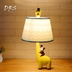 Żyrafa  minimalistyczne lampki nocne lampka do sypialni kreatywny ciepło chłopcy dziewczęta pokój dziecięcy Led lampki nocne u nas państwo lampy w Lampy na biurko od Lampy i oświetlenie na