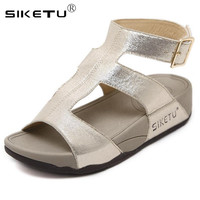 542eb4d9d SIKETU Ladies Gladiator Sandals Women Comfortable Fashion Belt Buckle  Summer Beach Shoes Woman Sandales Femme 2019
