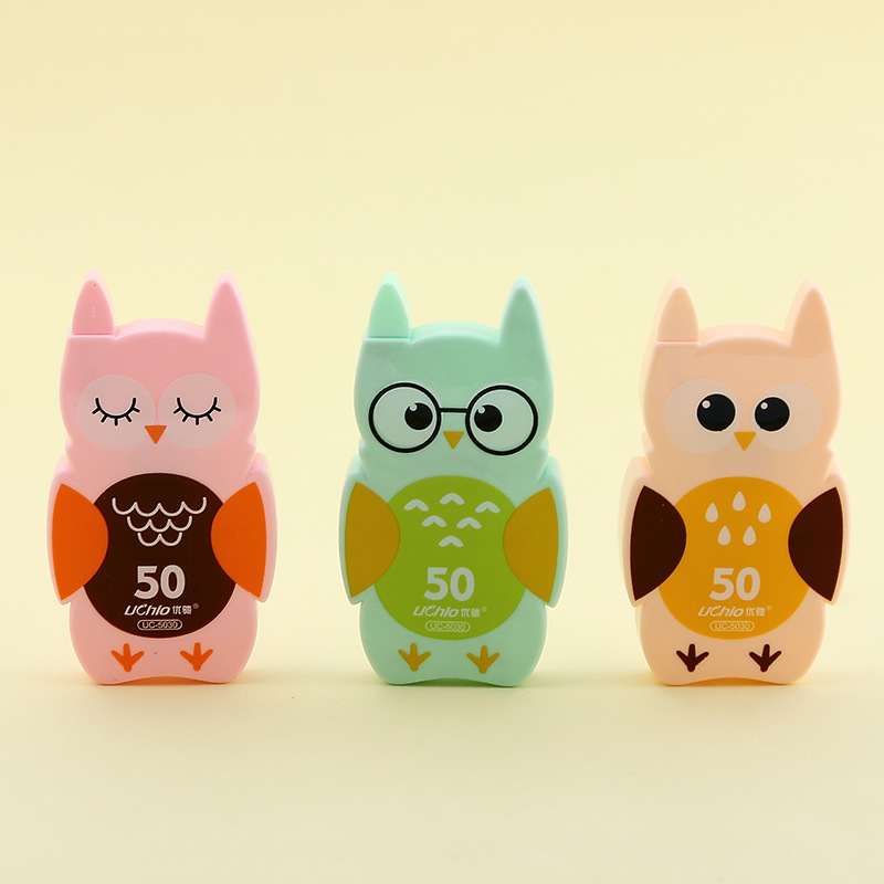 Kawaii Cute Owl Plastic Correction Tape Pen Ink Erase Tape School Office Supply Student Stationery Kids Gift