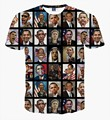 Obama Character Printed t shirts Funny T shirts Famous Star t shirt for men women Mens Streetwear hiphop tee shirt homme