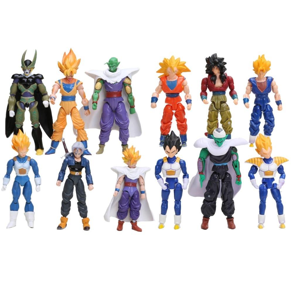 Dragon Ball Z Son Goku Gohan Vegeta Trunks Picollo Cell 6pcs Figure set Toy Gift