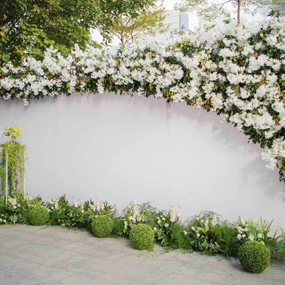 80*80*10 см Шелковый цветок розы цвета шампанского искусственный цветок для свадебного украшения Цветочная стена романтический свадебный фон ...