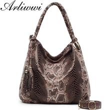 BIG SALE* High Quality Serpentine Pattern Women Luxury Shoulder Bags With Tassel Pendant PU Leather Messenger Handbags GPY01