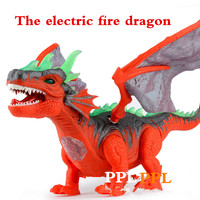 Jurassic monster electric light crawling dragon winged dragon with a simulation of dinosaur model sound toys for children
