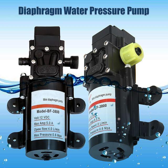DC 12V Water Self Priming Diaphragm Pressure Pump for Caravan/RV/Boat/Marine Boat Extremely Efficient