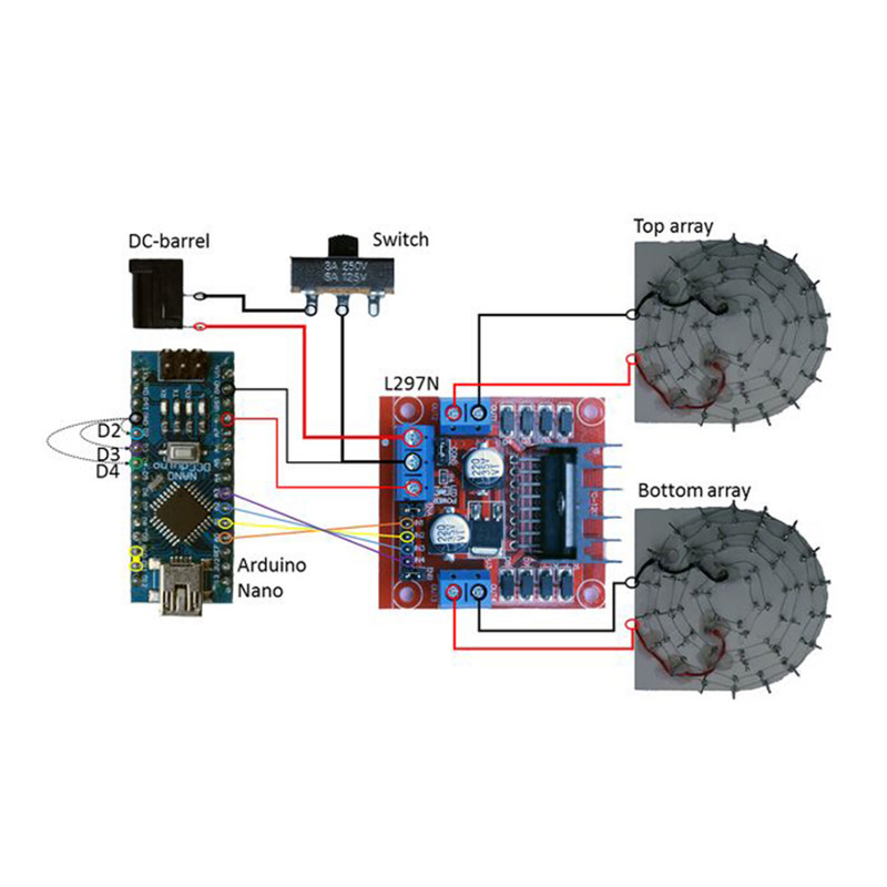 Acoustic Levitator 3D Printed TinyLev Funny Smart DIY Kit for Arduino Nano