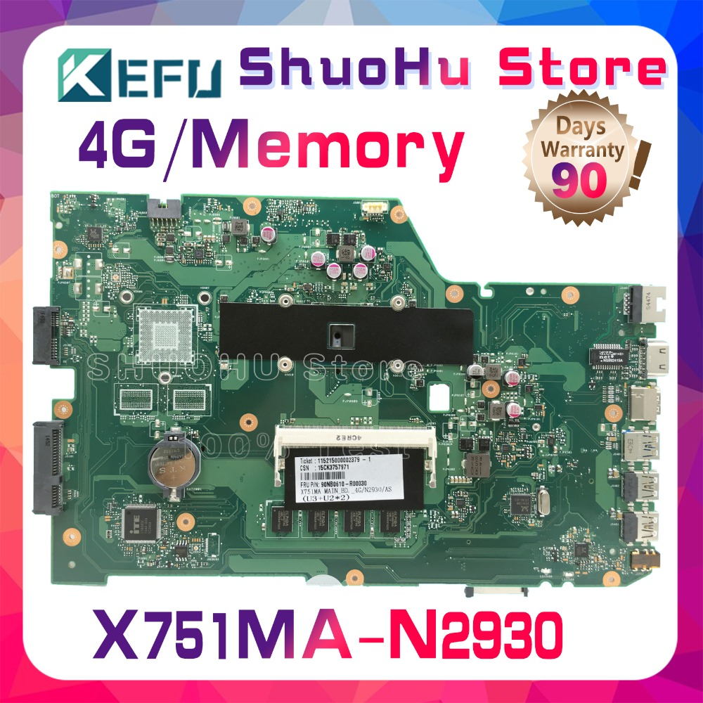 KEFU For ASUS X751MA X751MD K751M R752MA N2930U 4GMemory motherboard tested 100% work original mainboard image