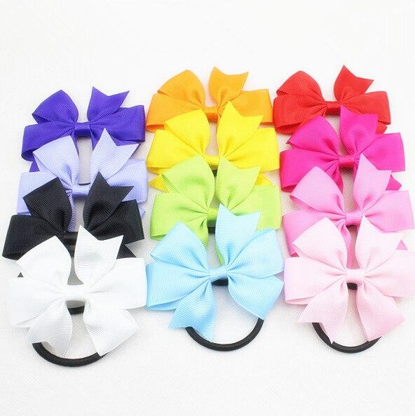 400 шт эластичная лента для волос, бабочка конский хвост держатели для девочек декоративные