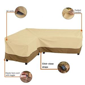 Image 3 - L shaped Corner Sofa Waterproof Cover Outdoor Patio Furniture Large Dustproof Oxford Couch Cover