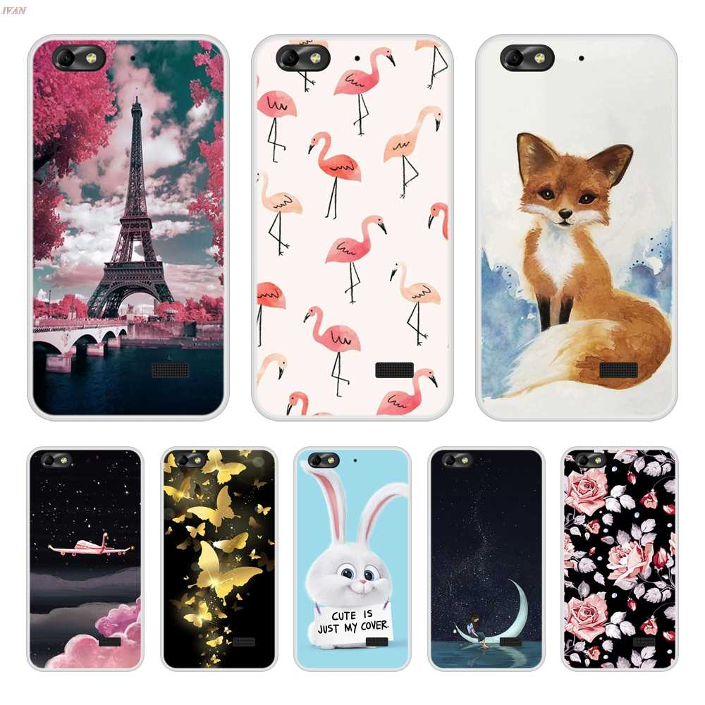 Phone Case For Huawei Honor 4C Soft Silicone TPU Cool Design Pattern Printing For Huawei Honor 4 C Case Cover
