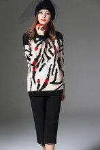 High quality women s soft leopard sweaters Fashion women s loose Pullover knitwear