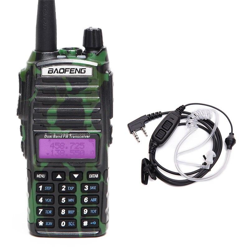 Baofeng BF-UV82 8 W Puissant De Puissance Tri Talkie Walkie Double Bande Portable Radio 10 KM Longue Portée cb Radio upgrde de UV 82 + casque