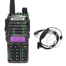 Baofeng BF UV82 8W Potente Tri Potenza Walkie Talkie Dual Band Portatile Radio 10KM Lungo Raggio cb Radio upgrde di UV 82 + auricolare