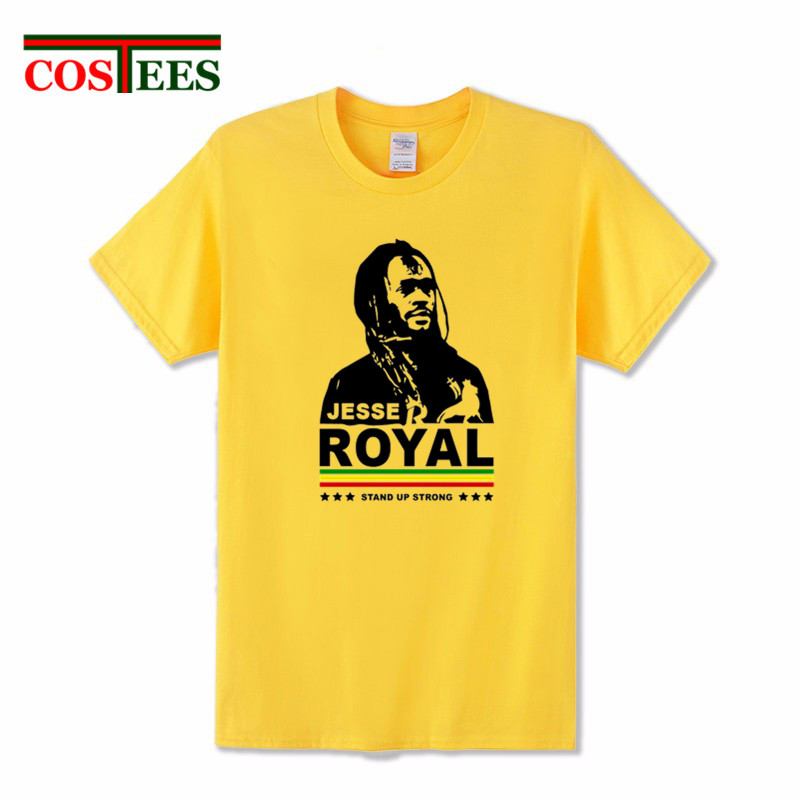 Royal Lion of Judah Rastafari Reggae T Shirt men character printed tshirt men Stand Up Strong With Jesse T-Shirt camiseta hombre
