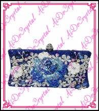 Aidocrystal doppelnutzung handgemachten schmuck italienische blauen perlen große blume gedruckt damen tasche