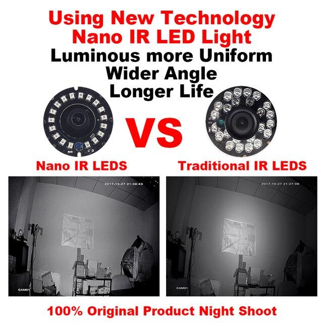 Smar AHD IP camera 1080P 720P With 18pcs Nano IR Led Night Vision cctv 2