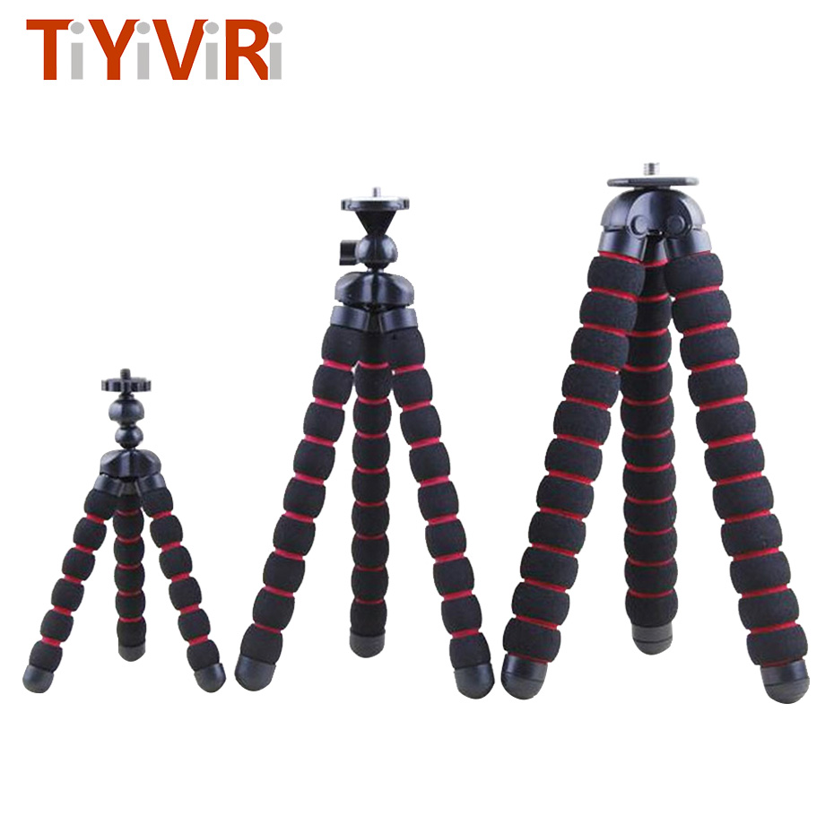 Portable Octopus Tripod Flexible Camera Stand Mini Gorillapod Monopod for Nikon Sony Canon d5200 DSLR Gopro HERO 4K Camera fosoto medium octopus flexible digital camera stand gorillapod monopod mini tripod with holder for gopro hero 2 4 3 3 and phone