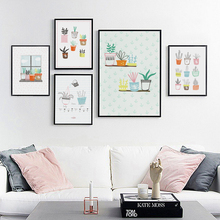 Elegant Poetry Nordic Flower Potted Plants Canvas Painting Art Print Poster Picture Children Bedroom Wall Home Decoration Mural