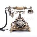 Винтажная телефонная поворотная пластина поворотная Кнопка циферблат телефонные телефоны в стиле ретро стационарный телефон для офиса до...