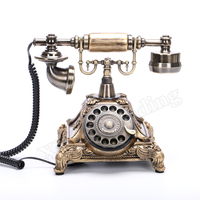 Vintage Telephone Swivel Plate Rotary Button Dial Telephone Antique Telephones Landline Phone For Office Home Hotel White