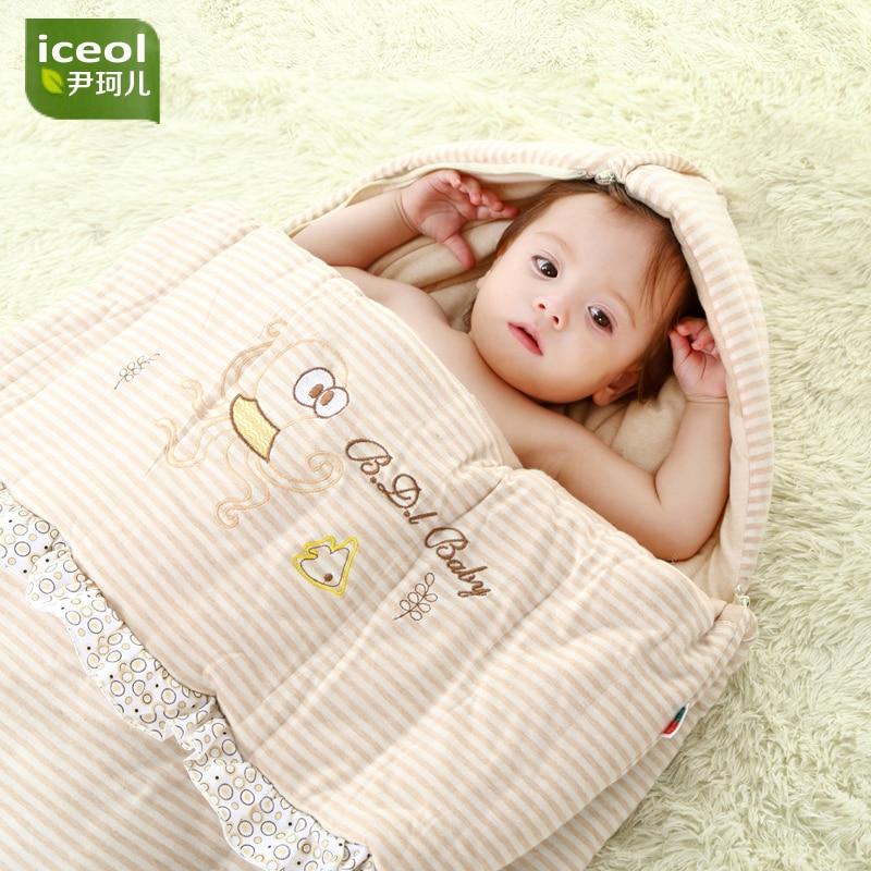 Wyjmowany koc bawełniany na podeszwy dziecięce Nowy, gruby śpiwór - Pościel - Zdjęcie 1