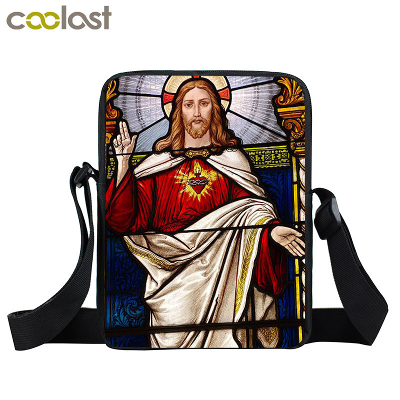Jesus Colorful Painting Shoulder Bag Men Women Casual Crossbody Bags Female Handbags Best Gift