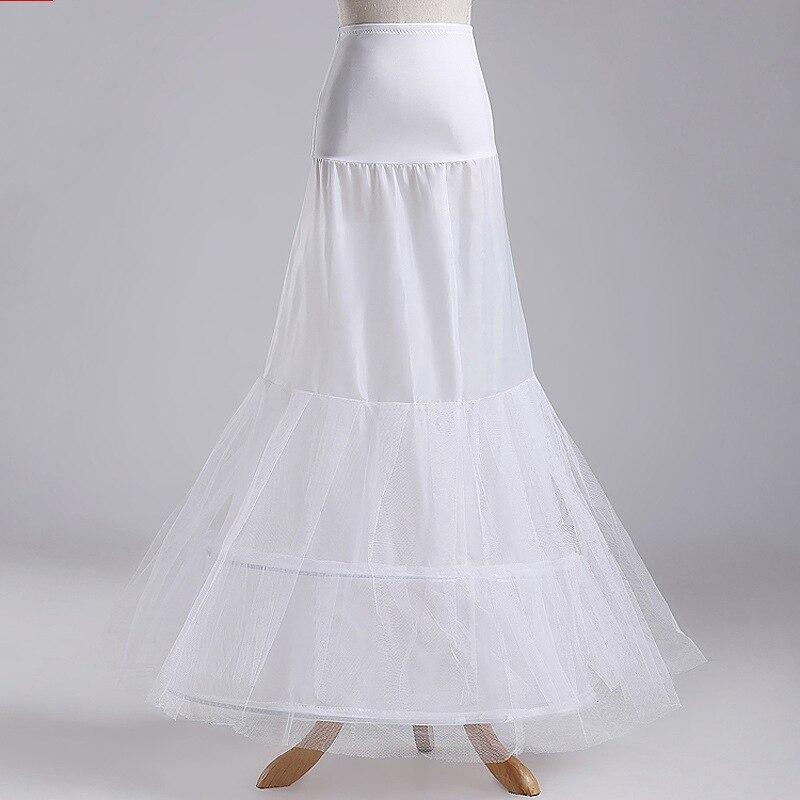 100% Wahr Meerjungfrau Brautkleider Petticoats Zwei Runden Petticoat 2 Hoop Slip Für Meerjungfrau Kleid Günstige Heißer Verkauf Unterrock Auf Der Ganzen Welt Verteilt Werden