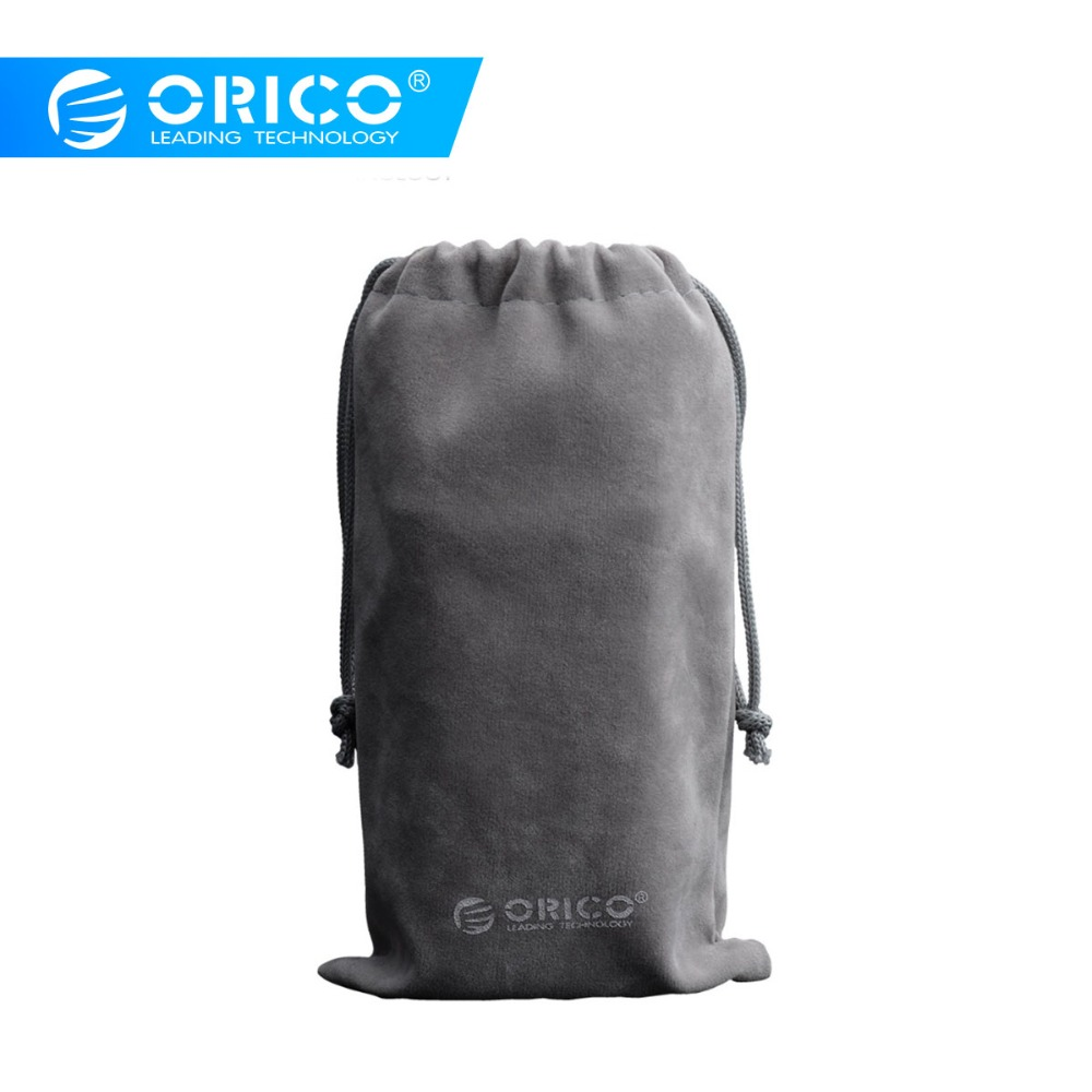 ORICO SA1810 Velveteen Protection Bag For USB Charger/USB Cable/Phone/Power Bank Protection Portable Case-Gray