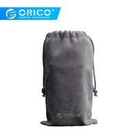 ORICO SA1810 Velveteen Protection Bag For USB Charger/USB Cable/Phone/Power Bank Protection Portable Case Gray|Hard Drive Bags & Cases|Computer & Office -