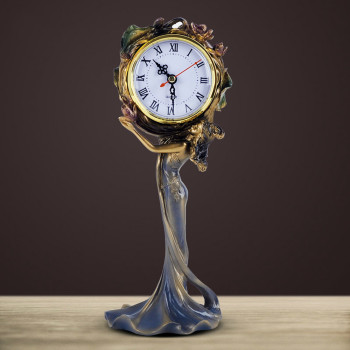 1PCS Archaize European style beauty clock  living room clock, bedside clock Retro Clock ornament LU606123