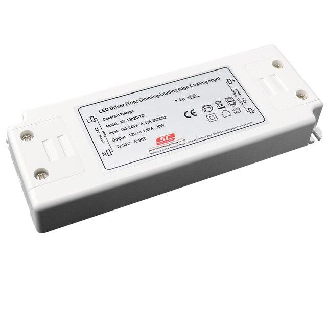 12 V 20 W triac dimbare constante spanning 20 w led driver voeding ...