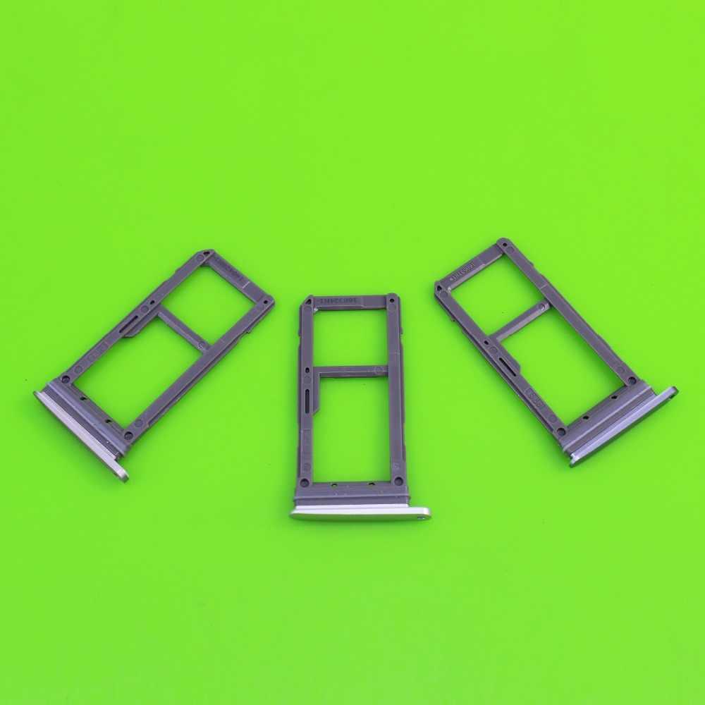 YuXi 3 צבע כפול/יחיד Sim מגש עבור Samsung Galaxy S7 G930 G930F SIM כרטיס מגש חריץ מחזיק החלפה חלק
