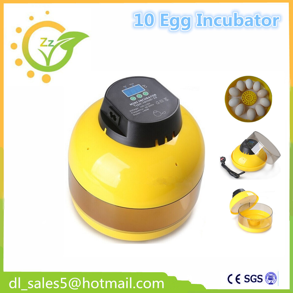 10 Eggs Egg Incubator Brooder Poultry Incubator Digital Manual Turning Hatcher Terperature Control Poultry Hatch 96 poultry chicken egg incubator digital hatcher smart brooder double trays supply automatic eggs turning temperature control