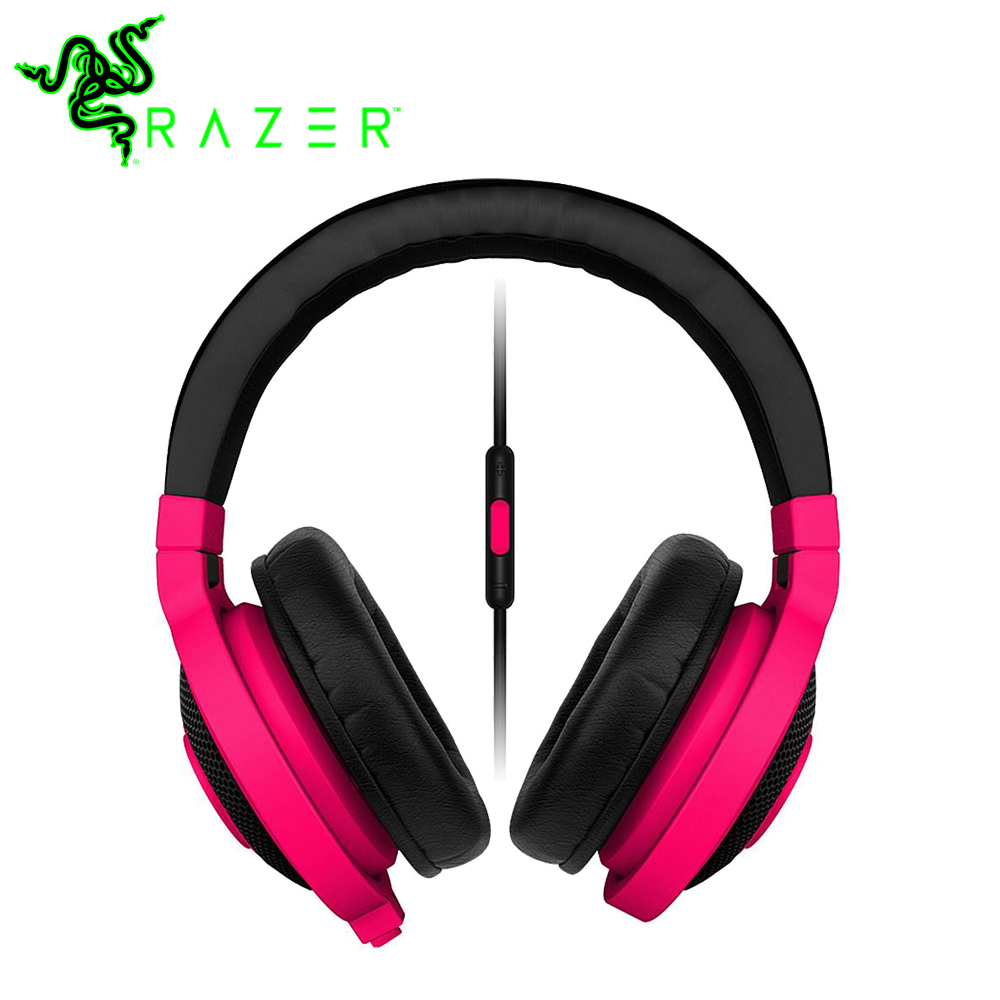 Razer Kraken Mobile Analog Music and Gaming Headset Colorful 3.5mm with Mic Media Control Remote Gaming Music Headphone Earphone 100% original razer kraken pro gaming headset with wire control headphones