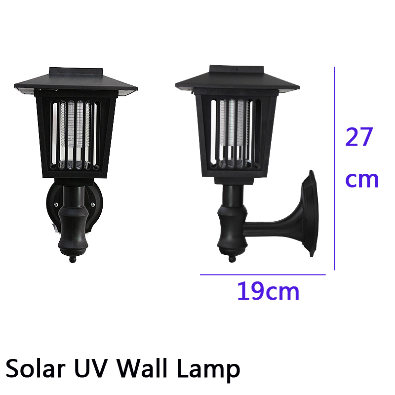 ФОТО Solar Wall lamp UV LED Solar Outdoor Decoration Yard Garden Lighting Anti Mosquito Insect Pest Bug Zapper Killer Trapping Lamp