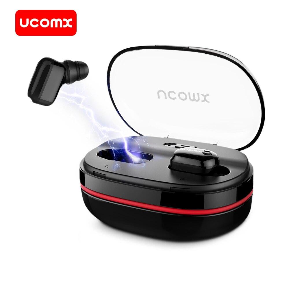 UCOMX U6H Bluetooth Écouteurs Sans Fil Écouteurs avec Microphone Véritable Sans Fil Stéréo Dans L'oreille Moniteur Écouteur pour iPhone Samsung