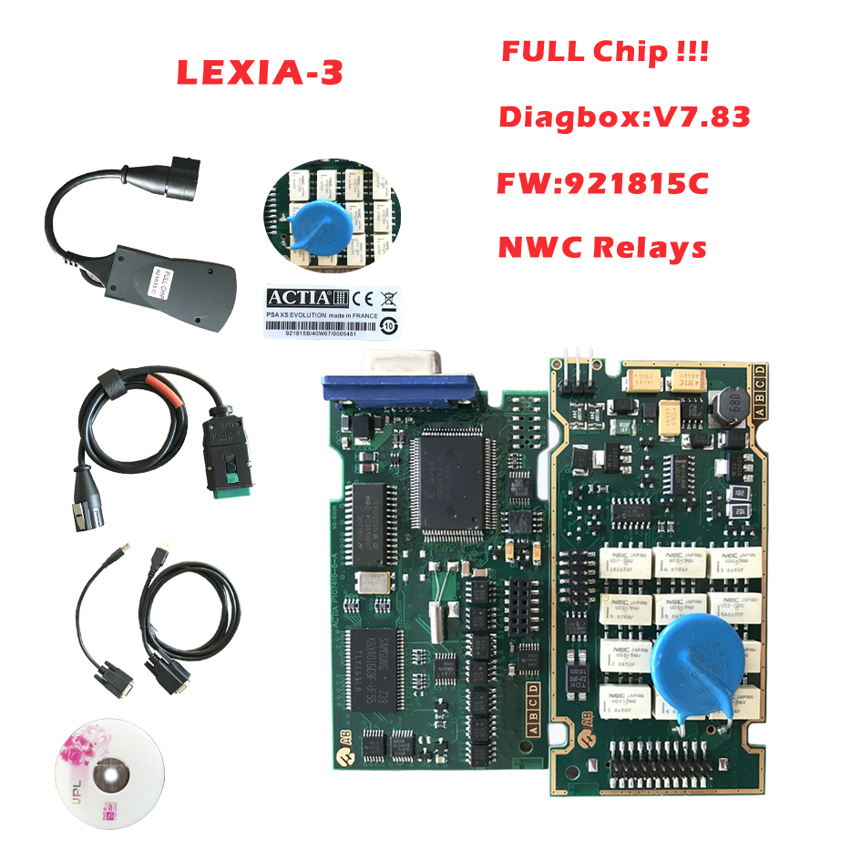 Lexia3 with Firmware 921815C Golden PCB Lexia 3 PP2000 V48/V25 For car with more fuction best quality full chip