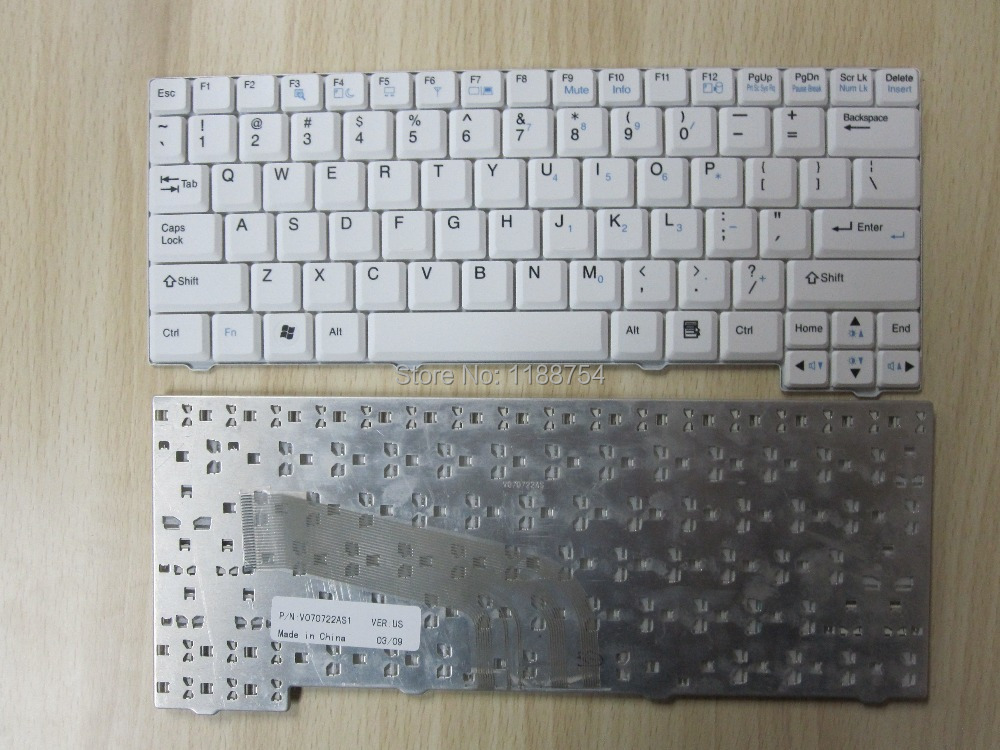 Free shipping NEW US white Laptop Keyboard for LG X110 X120 P/N: V070722AS1 for sony vpceh35yc b vpceh35yc p vpceh35yc w laptop keyboard