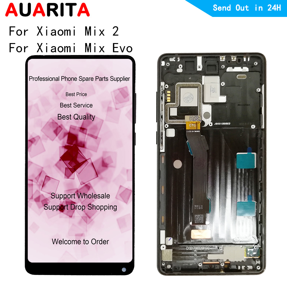 """5.99"""" For Xiaomi Mix 2 Mix2 / Mix EVO LCD Display Touch panel Screen Digitizer with middle frame Assembly for xiaomi MI mix2"""