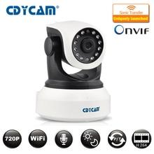 CDYCAM Onvif 2.0 720P IP Camera Wireless Wifi CCTV IP Camera baby monitor Indoor Pan/Tilt IR CUT Night Vision Camera Network P2P