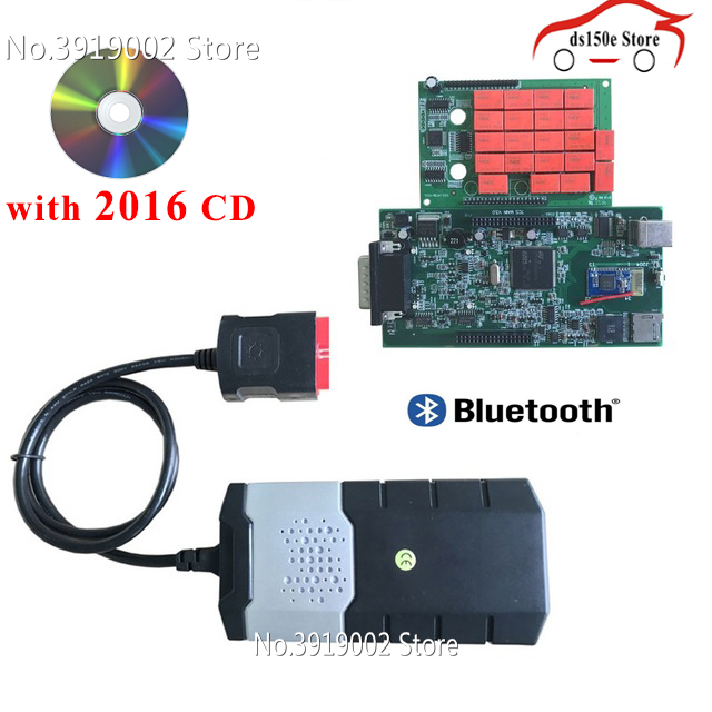 10pcs/lot wholesale obdii obd2 Adapter tcs cdp pro Cars Diagnostic Interface Tool New VCI VD ds150e CDP for delphis for autocoms
