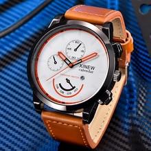 Marca Sport Reloj de Los Hombres de Primeras Marcas de Lujo De Negocios De Cuero Masculino regalo para niños de Cuarzo-Reloj de Los Hombres Reloj de Pulsera Relogio montre homme