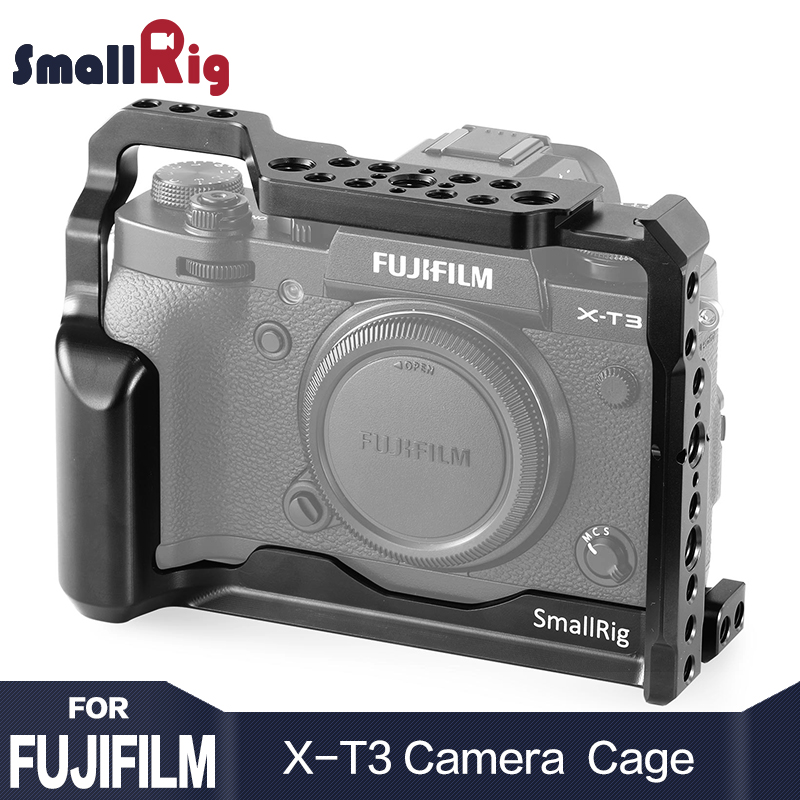 SmallRig DSLR Camera Cage for Fujifilm X T3 X T3 and X T2 Camera feature with Nato Rail Handle Grip Free Shipping 2228